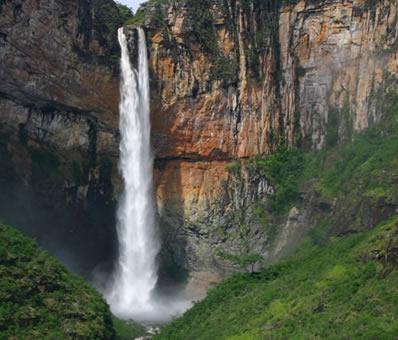 Cascad'anta no Parque Nacional Serra da Canastra